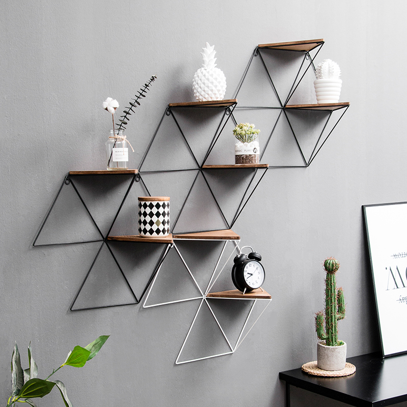 Us 38 8 6 Off Simple Modern Wall Decoration Pendant Home Living Room Rack Clothing Tea Hanging Storage In