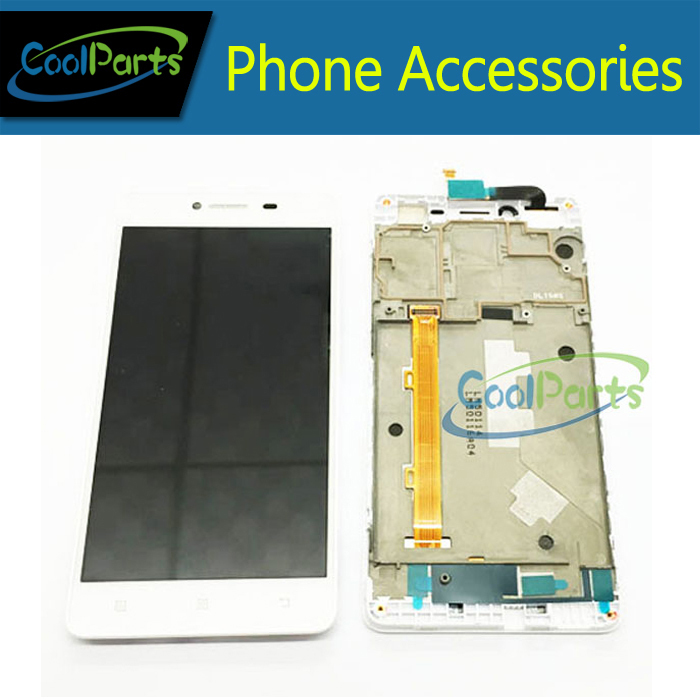 2015 NEW For Lenovo A858T LCD Display and Touch Screen Assembly With Frame White Color Free Shipping 1PC/Lot