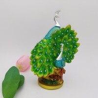 Creative Design Resin Peacock Shape Crafts Home Decor Handicraft Ornament Crafts Wedding Decoration Figurine 17183G