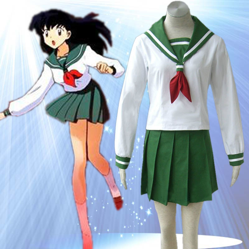 font b Anime b font Inuyasha Higurashi Kagome School Uniform font b Cosplay b font