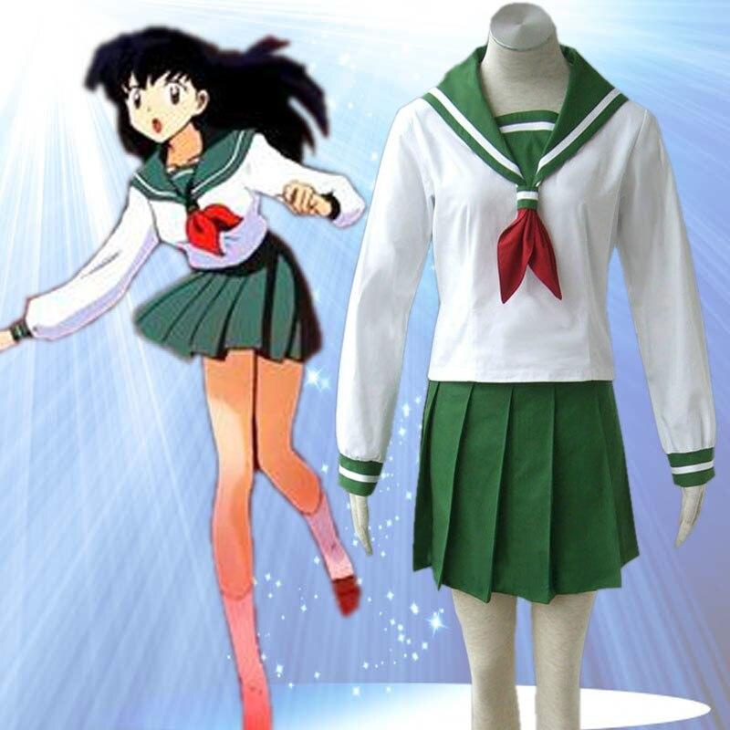 Anime Inuyasha Higurashi Kagome Cosplay Costumes Girls: Online Buy Wholesale Kagome Higurashi Costume From China