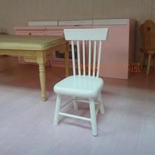 Silla lateral 1/12 escala de muebles dollhouse miniatura de madera para niños Juguetes y Pasatiempos