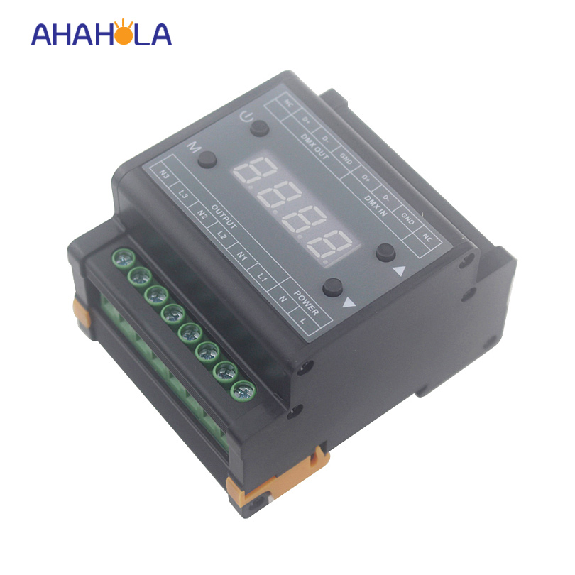 triac 110v 220v dmx dimmer controller for single color lamps trailing edge dimming output 3 channel