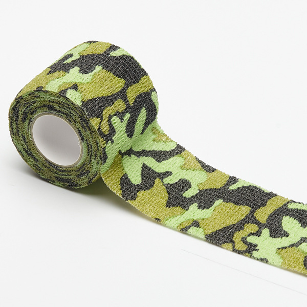 TOP Sale Emergency Kits Outdoor Nonwovens Self-adhesive Bandage Jungle Camouflage Tape Elastic Tape Outdoor Military Supplies
