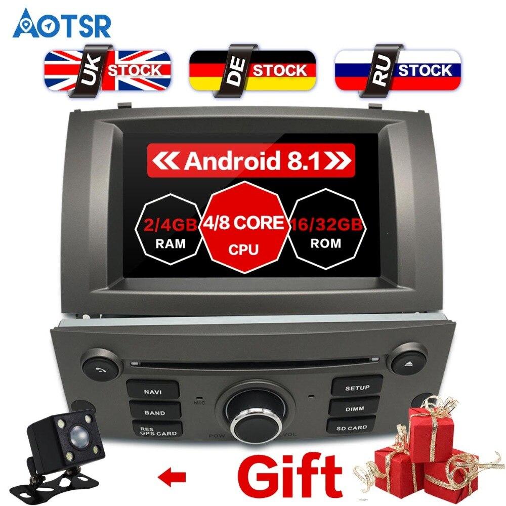 7 pouce Android 8.1 Voiture Lecteur DVD GPS Navigation Pour Peugeot 407 2004-2010 Radio Multimédia Satnav Headunit Stéréo wifi Auto IPS
