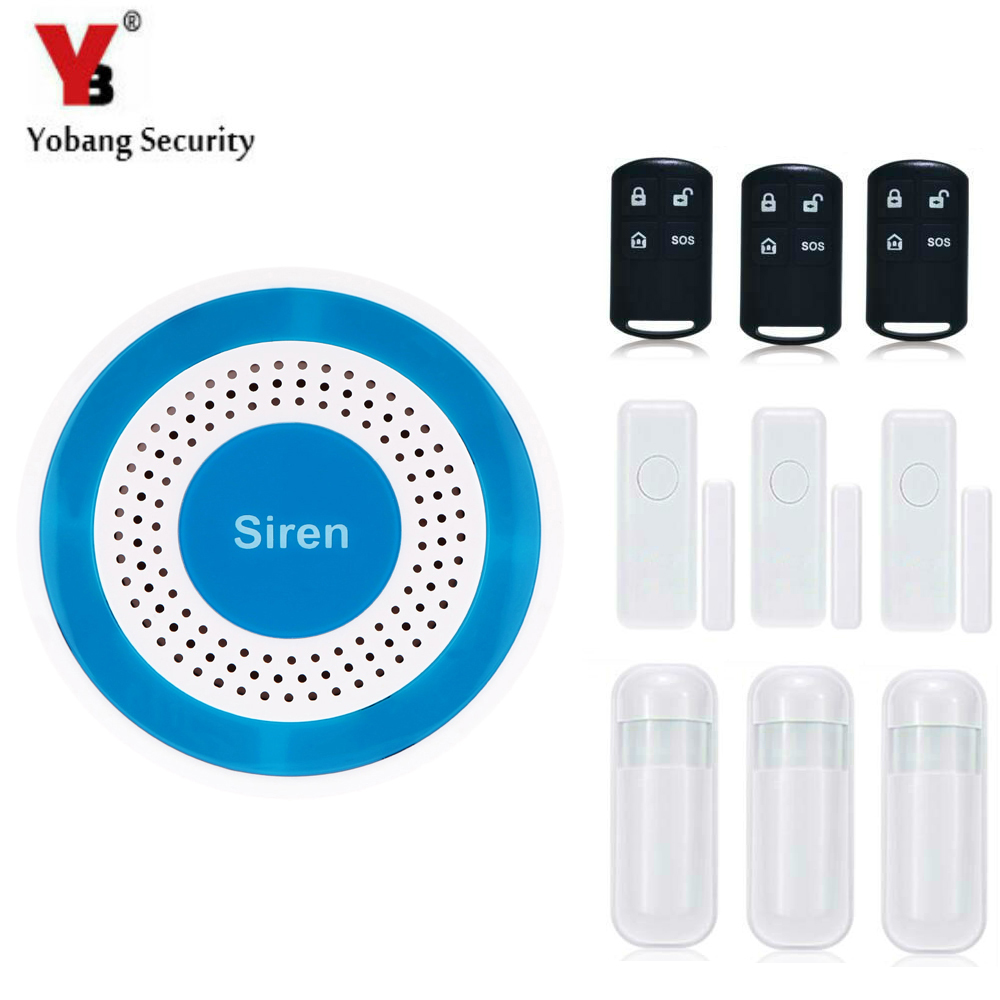 YobangSecurity Wireless Home Security Burglar Alarm kit System Auto Dialing Wireless Voice Host PIR Motion Door Window Sensor yobangsecurity wireless home security voice alarm system diy kit intruder alarm pir motion detector door alarm