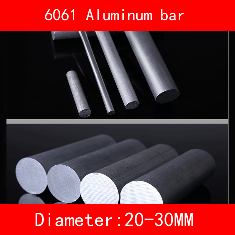 Diameter 20mm 25mm 30mm length 300mm Aluminum 6061 Round Bar Aluminium Strong Hardness Rod for Industry or DIY 80mm x 30mm aluminium flat rectangular bar 80 30mm width 80mm thickness 30mm 6061 t6