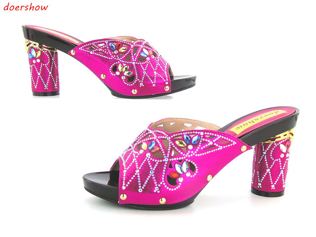 6b8f06b2a doershow High Quality African Women Sandals 2016 Ladies Summer Slippers  Shoes Fashion Rhinestones High Heel! JK1-45