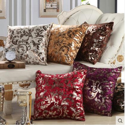 Modern Luxury Hot Stamping 45x45cm/55x55cm Home/Office/Sofa/Bed Decorative Cushions/Throw Pillows(Not Contain Filling)