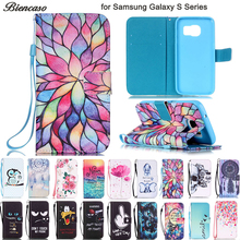 Biencaso 지갑 Flip Case 대 한 Samsung Galaxy S3 mini i8190 S4 mini i9190 i9300 S5 mini S6 S7 Edge S8 s9 Plus Cover Fundas B21(China)