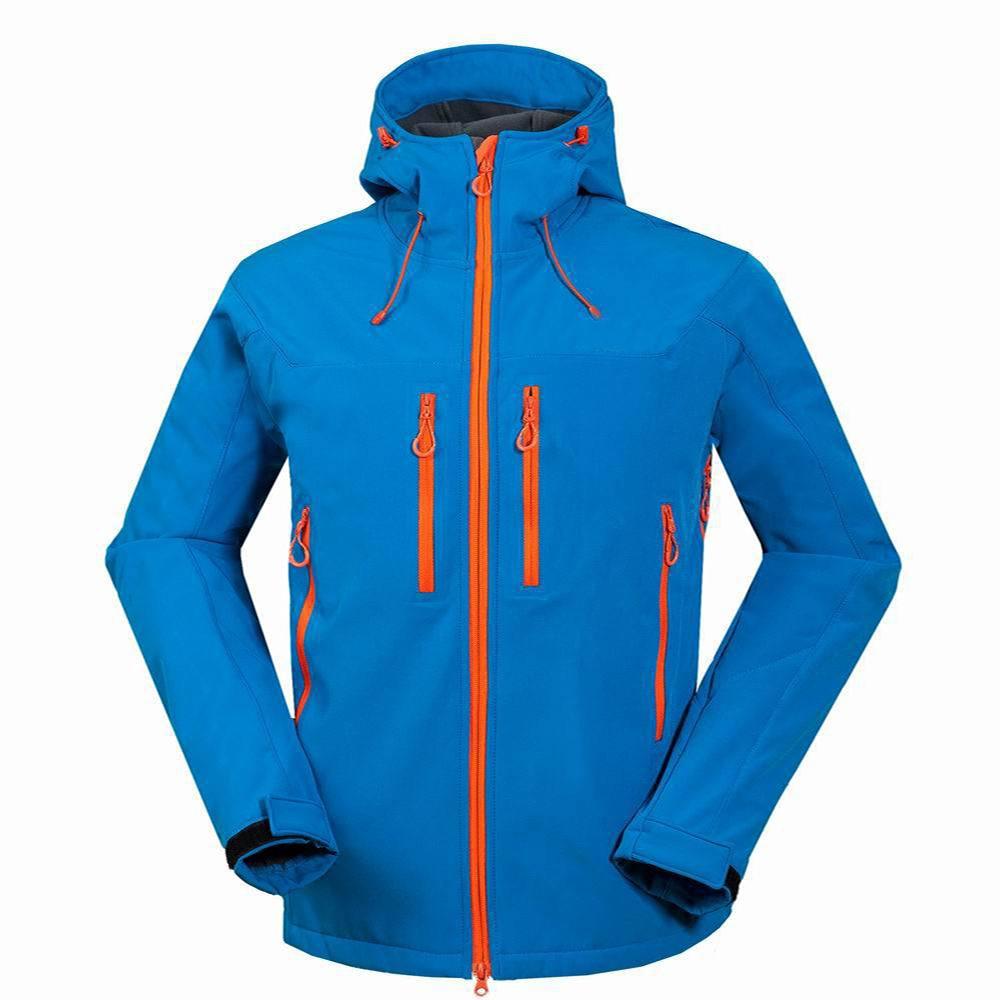 屋外スキージャケットメンズ防風熱ソフトシェルスノーボードスキージャケット雪スケート服ハイキングスポーツ服  グループ上の スポーツ & エンターテイメント からの スキー ジャケット の中 1