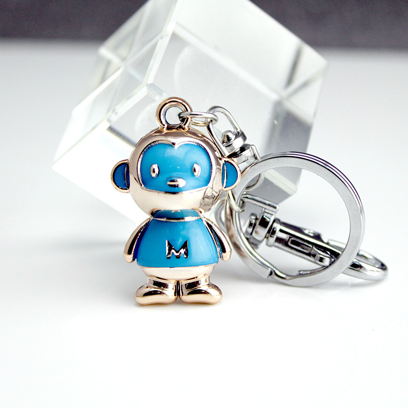 DHLFREE 100PCS Lovely enameled Alloy Monkey Key chain Keychain Rings for Men Women Couple Lover Novelty Gift Trinket - 2