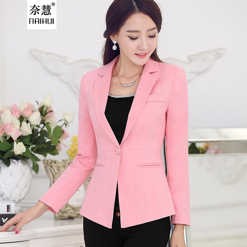 Otoño moda mujer blazer traje estilo coreano casual Slim