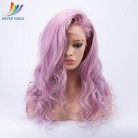 130% 150% 180% плотность розовый персик перуанской Full Lace натуральные волосы парик бесклеевого длинные вьющиеся Полное Кружева натуральные волос