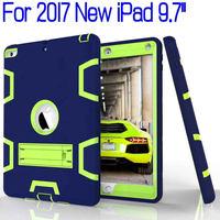 טיפת הוכחה היברידי Heavy Duty סיליקון כיסוי מלא עבור iPad 9.7 2017 חדש 9.7