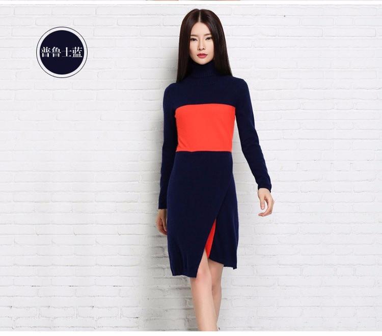 2018 Yeni Moda Qadın kazak Cashmere Trikotaj uzun kazak qadın - Qadın geyimi - Fotoqrafiya 3