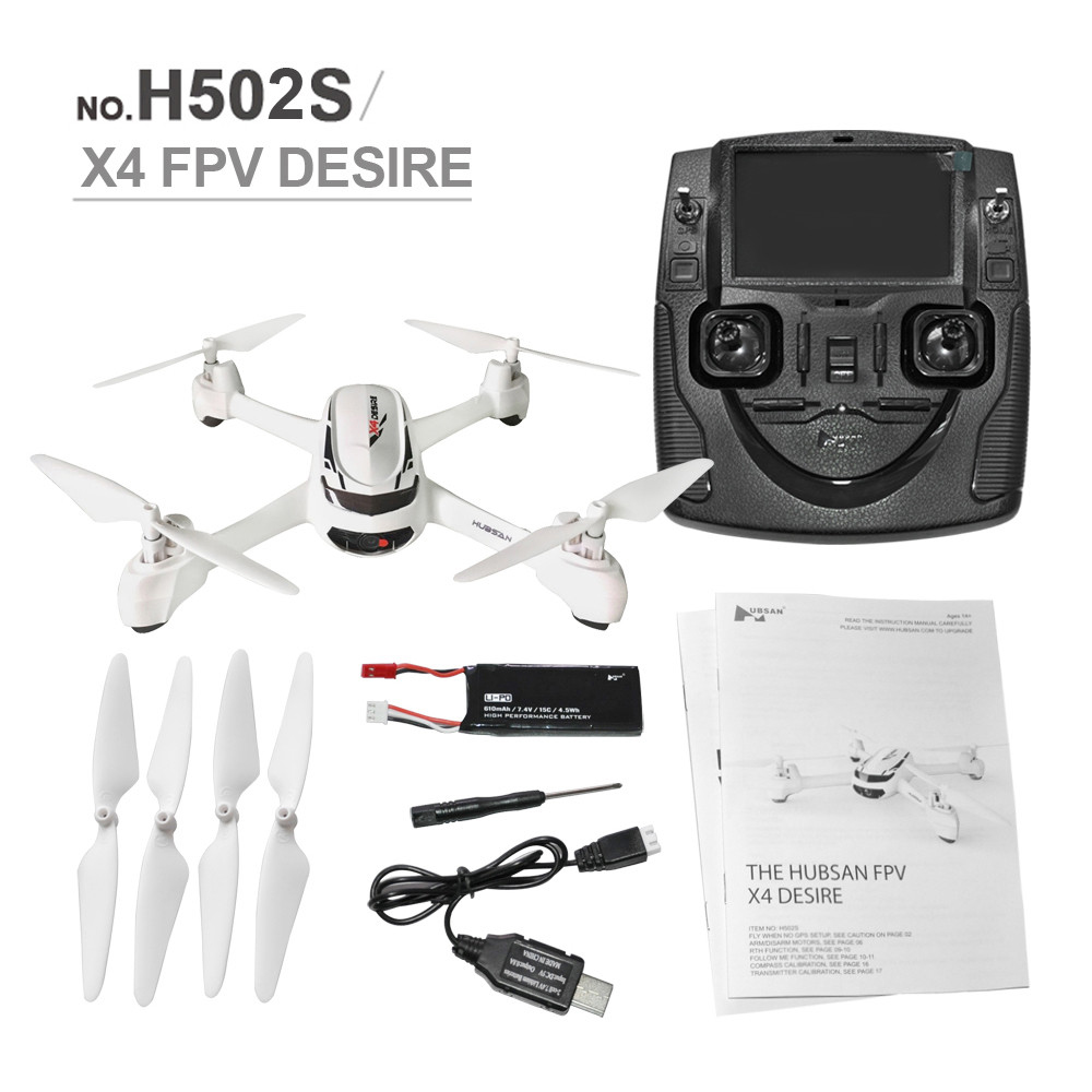 Hubsan X4 H502S 5.8G FPV GPS Altitude Mode RC Quadcopter GPS Drone With Camera HD Follow Me One Key Return Headless Mode Drones remote control charging helicopter