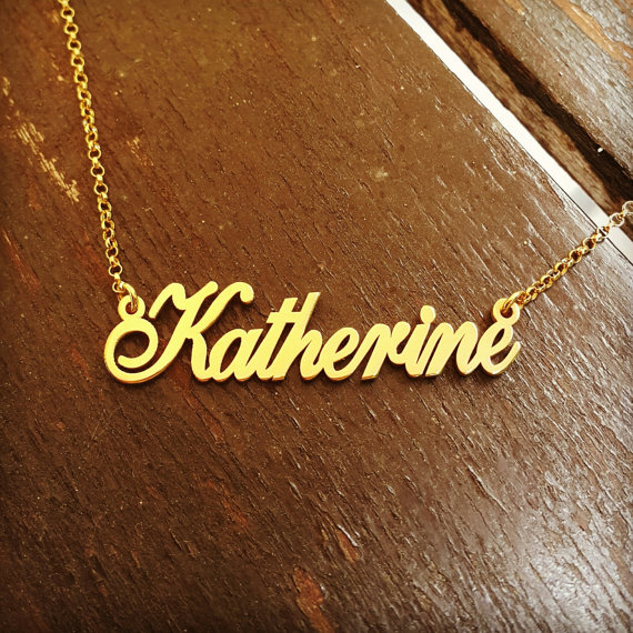 name necklace personalized stainless steel custom nameplate bff