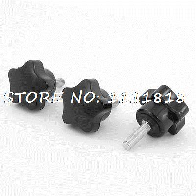 3 x Black M6 x 20 Thread 32mm Dia Bakelite Star Knob Handle for Machine Tool 2017 new sexy one piece swimsuit strappy biquini high waist one piece swimwear women bodysuit plus size bathing suits monokinis