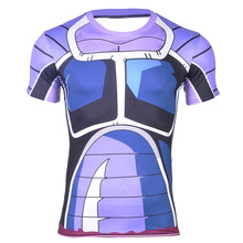 Brand Anime Dragon Ball Z Vegeta T Shirt Men Super Saiyan Goku New Fitness Cosplay 3D T-Shirt Hot tshirt homme Plus size