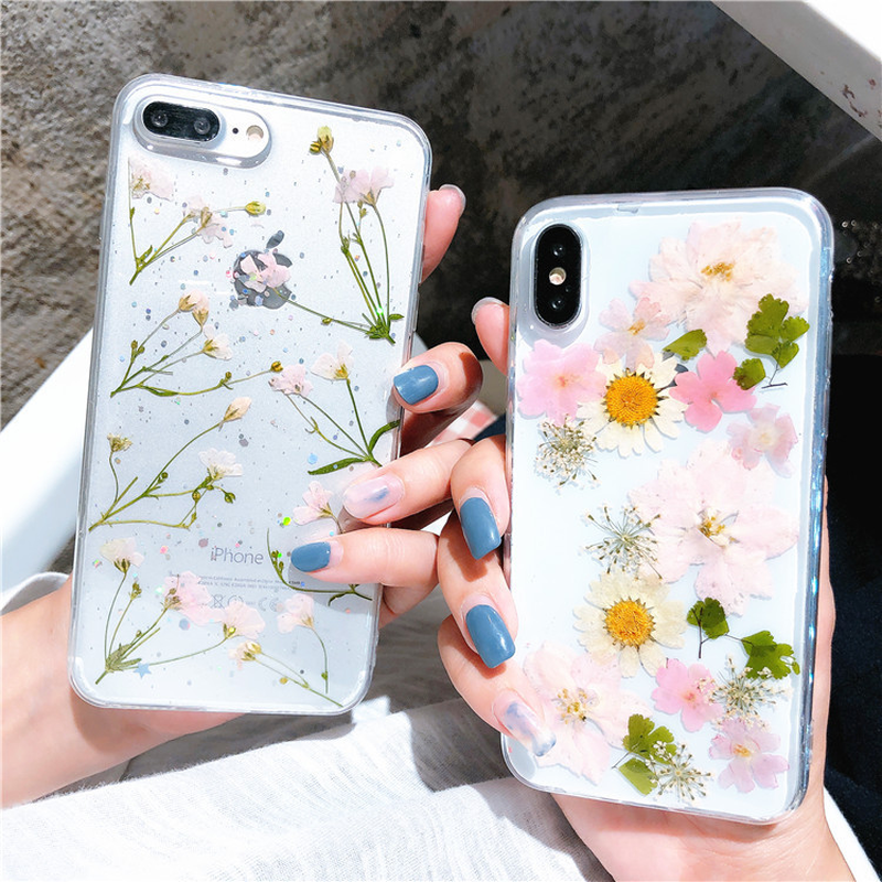 Dried Real Flower Cases for IPhone XS MAX XR XS Case