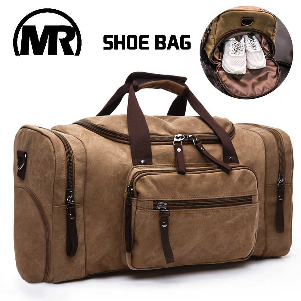 060044288416 MARKROYAL Men Travel Bag With Shoe Warehouse Canvas Handbag Overnight  Messenger Bag High Capacity Shoulder Duffle