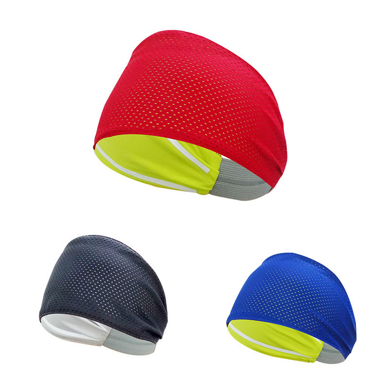 Yoga Sports Fitness Non Slip Sweatbands for Running Breathable Absorbent Sports Headband Athletic Sweatbands Fits for Women Men