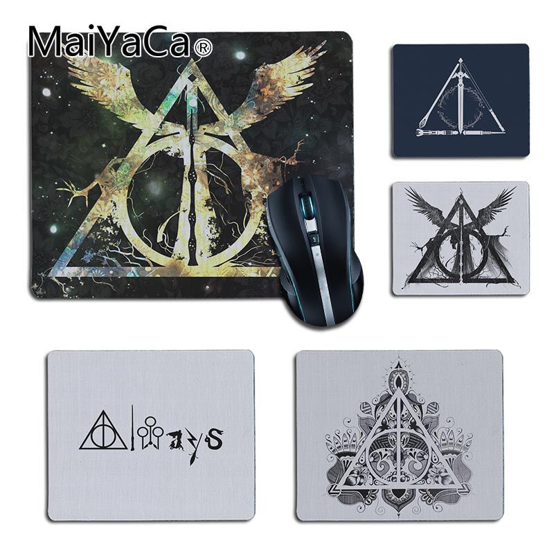 Mairuige 18x22cm Unique Design Paper Money Coins Gold Bars Computer Mouse Pad Mousepads Rubber Pad Gaming Speed Mouse Pad Bright Luster Computer Peripherals