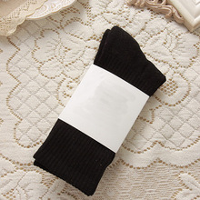 Mens Winter Socks Candy Color Hosiery Elastic Durable Ribbed Knitting Sock chaussettes homme 0089