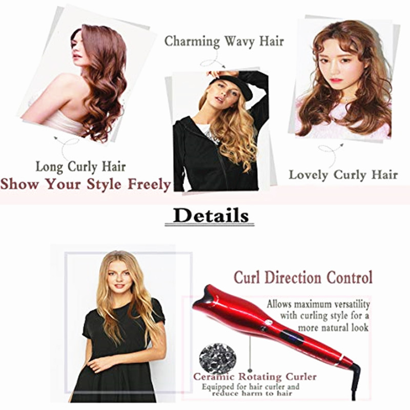 Hot Sell Air Spin N Curl 1 Inch Ceramic Rotating Automatic Curling Iron Hair Curler Professional Hair Curler For All in Curling Irons from Home Appliances