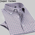 Free shipping 2017 New cotton high quality Men's Casual Dress short Sleeve Shirt slim fit shirt Plaid summer dress Male 45cl