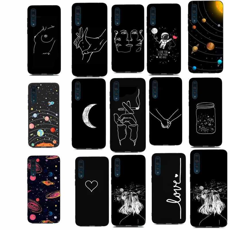 Silicon For Funda P30 Case Luxury Cute Line Phone Cases For Huawei Mate 10 lite P10 lite P20 Lite Y6 2018 P Smart P30 Pro Case
