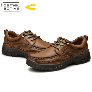 Image 2 - Camel Active New Mens Genuine Leather Oxfords Spring Autumn Waterproof Moccasins Lace Up Men Casual Shoes Outdoors Man Shoes