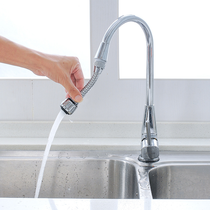 Household Kitchen 2 Modes Pull-out Device External Faucet Nozzle Water Saving Sprinkler