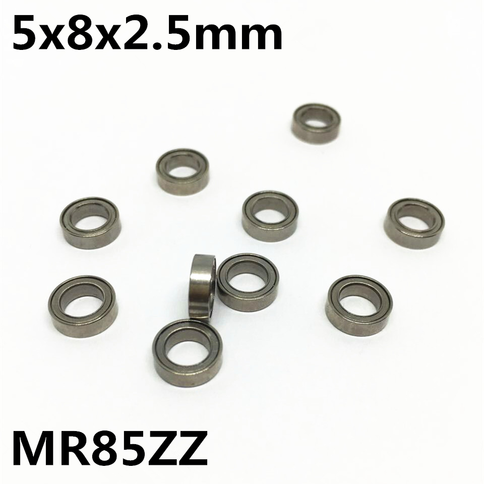 10Pcs MR85ZZ L-850ZZ 5x8x2.5 mm Deep groove ball bearing Miniature bearing High qualit MR85 MR85Z zokol bearing mr85zz z1 miniature deep groove ball bearing 5 8 2 5mm