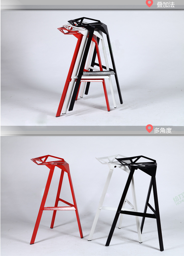 Transformers Designer Chair Leisure Chair Bar Stool Tall Cast Iron Wrought Iron Bar Stools Bar Chairs Creative Geometry Chair Office Chair Covers For Folding Chairschair Cleaning Aliexpress