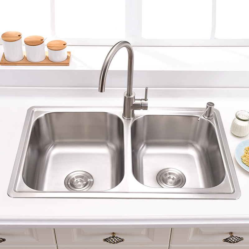 online buy wholesale kitchen sink double bowl double drain