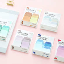 3 pcs/Lot Ranbow memo paste Index file Sticky notes Bookmarks Message memo Scrapbooking Office material School supplies FM662