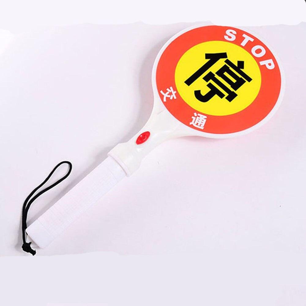 Two-Way Handheld LED Traffic Sign Stop Light Lamp Car Indicator Warning Sign Baton Flashlight