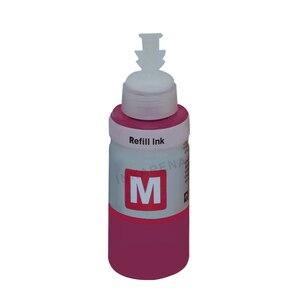Image 5 - 4 renk boya bazlı dolum mürekkep kiti için Epson L100 L110 L120 L132 L210 L222 L300 L312 L355 L350 L362 l366 L550 L555 yazıcı eko mürekkep