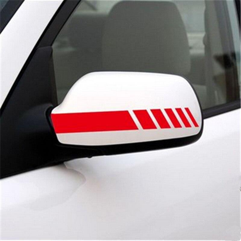 1 Pair Universal Rear-view Mirror Stickers Side Decal For Cadillac Xts Srx Ats Cts/renault Koleos Fluenec Latitude