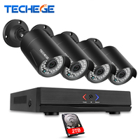 Techege 4CH 1080P CCTV NVR System POE NVR ONVIF Cloud P2P 1 3MP 960P Waterproof Night