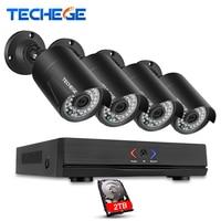 Techege 4CH 1080P CCTV NVR System POE NVR ONVIF Cloud P2P 1 3MP 960P Waterproof Night