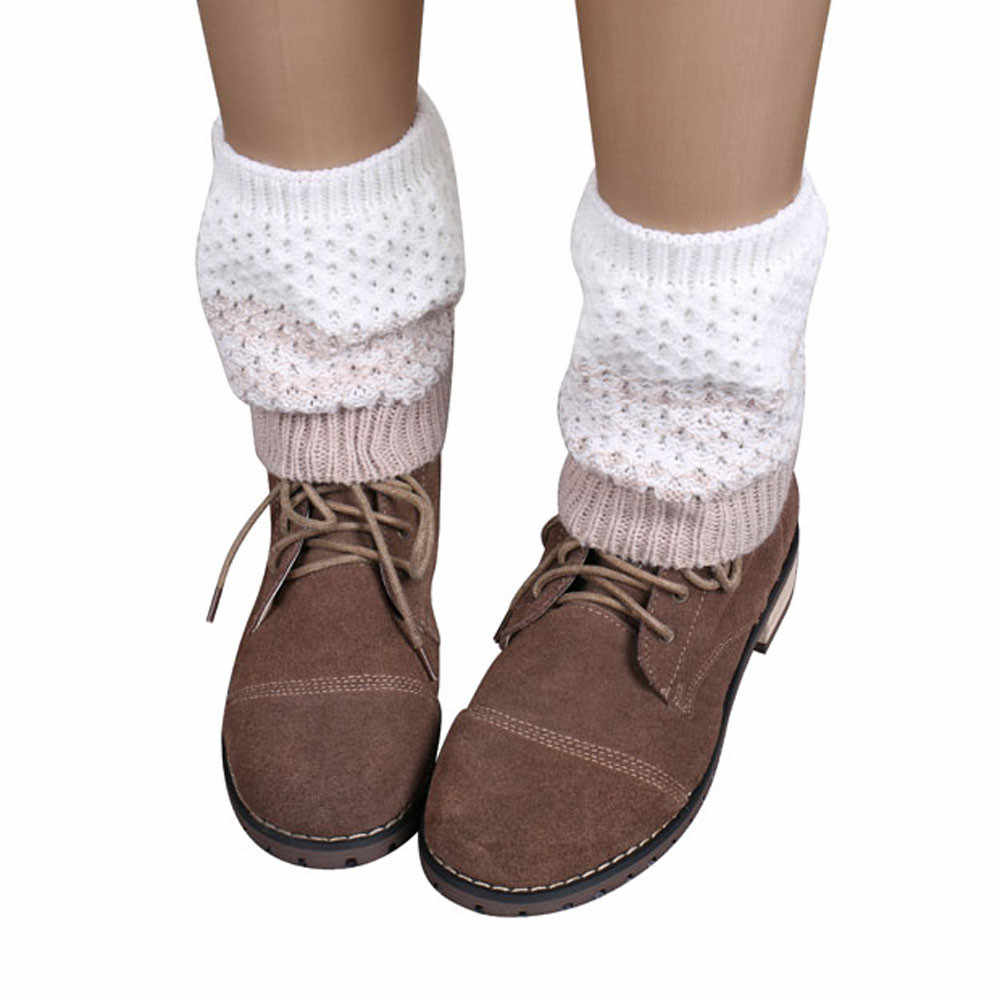 2018 Fashion Women Winter Warm Leg Warmers Knitted Scoks Crochet Long Boots Socks New Arrival  Boot Socks 1a16