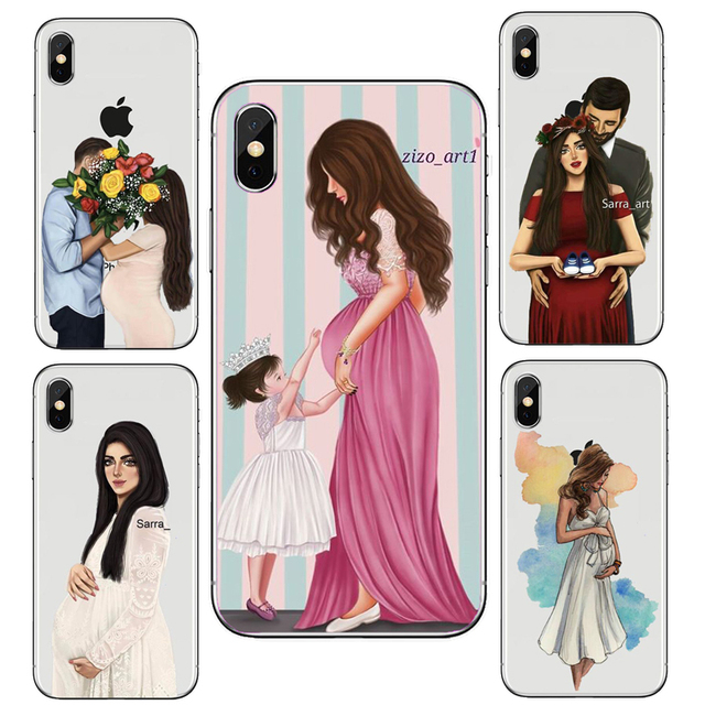 check out ef91e 9c569 US $1.79 38% OFF|Shopping Girl Wedding Pregnant Woman Colorful Silicone  Soft TPU Phone Case For iPhone X 10 XS 8 7 6 6S Plus 5S 5C SE XS Max XR-in  ...
