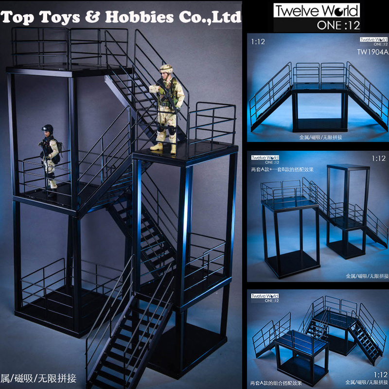 1/12 Scale TWTOYS TW1904 1/12 Full Metal Stair Scene Unlimited Expansion Toy For 6 Inches Action Figure