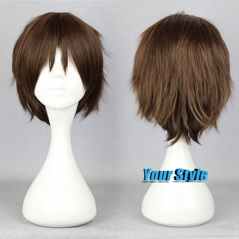 30cm Cheap Cute Brown Wigs Short Boy Pixie Cut Hairstyles