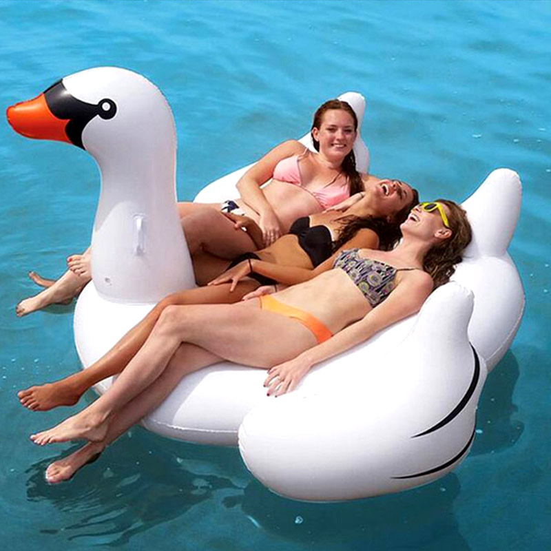 Inflatable White Swan Pool Floats Swimming Float For Adult Tube Raft Kid Swim Ring Summer Water Fun Pool Toy Floating Row pineapple fruit inflatable kid toy swam outdoor children float inflatable swan ring summer holiday water fun beach pool toys