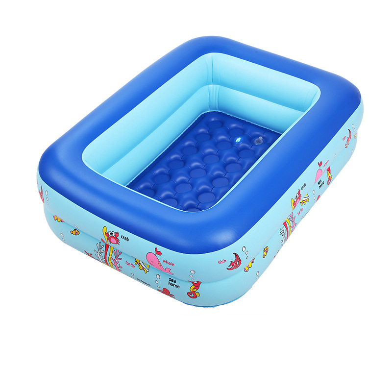 Inflatable Baby Swimming Pool Eco-friendly PVC Portable Inflatable Baby Bath Kids Thickening Folding Baby Tub Baby Swimming Pool thickened swimming pool folding eco friendly pvc transparent infant swimming pool children s playing game pool