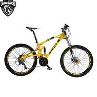 Super Mountain Bike Full Suspension Aluminum Frame 24 27 Speed Hydraulic Mechanic Brake 26 Wheel